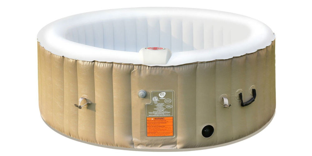 COSTWAY Inflatable Bubble Massage Spa Hot Tub