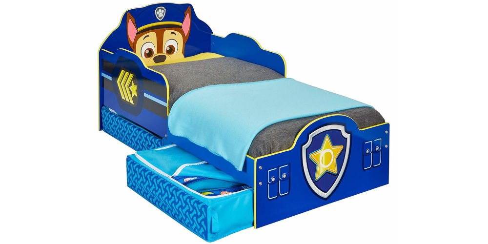 HelloHome Paw Patrol Chase Kids Toddler Bed