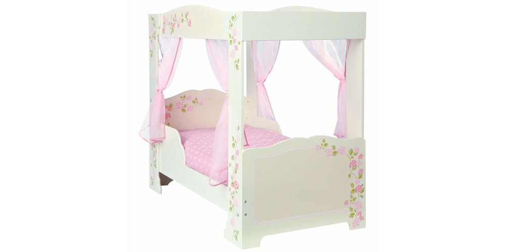 HelloHome Rose Four Poster Kids Toddler Bed
