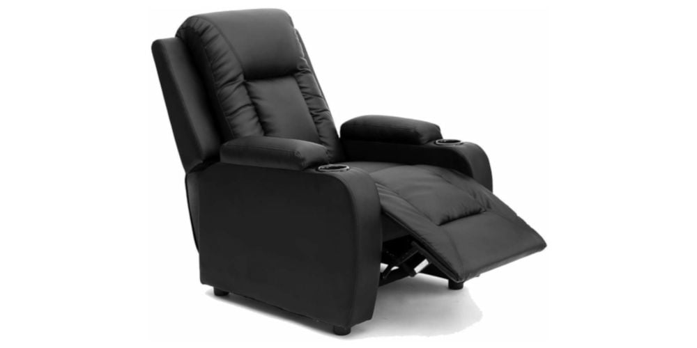 More4Homes Oscar Leather Recliner with Drink Holders
