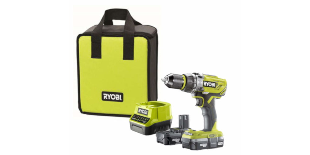 Ryobi R18PD31-213S 18V ONE+ Cordless Compact Combi Drill Starter Kit
