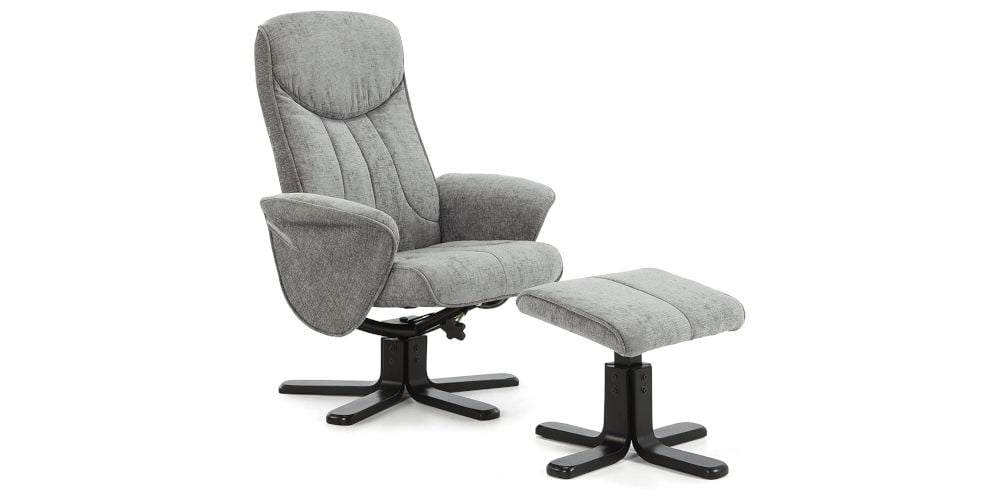 Stavern Four Point Massage Swivel and Recliner Chair with Footstool
