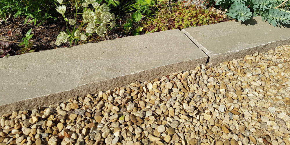 pebble garden edging Westminster Stone Company Limited